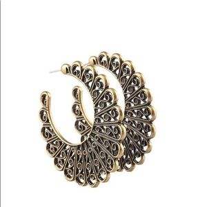 Brass hoop erring